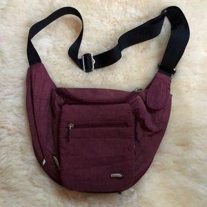 Travelon crossbody burgandy travel bag